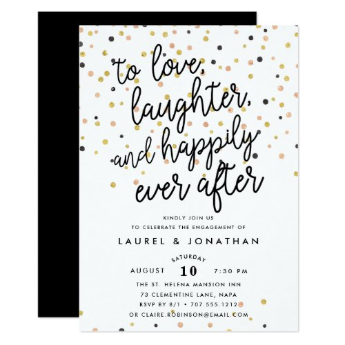 Happily Ever After | Engagement Party Invitation