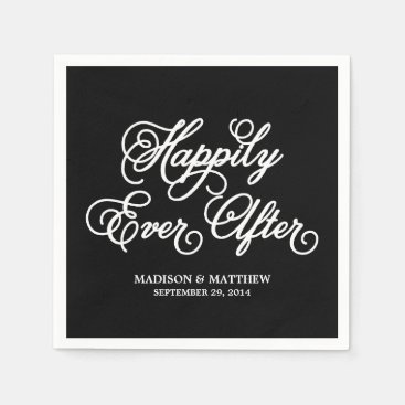 Happily Ever After | Personalized Paper Napkins