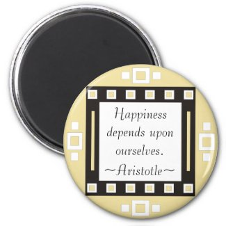 Happiness- Aristotle Quotation - Motivational magnet