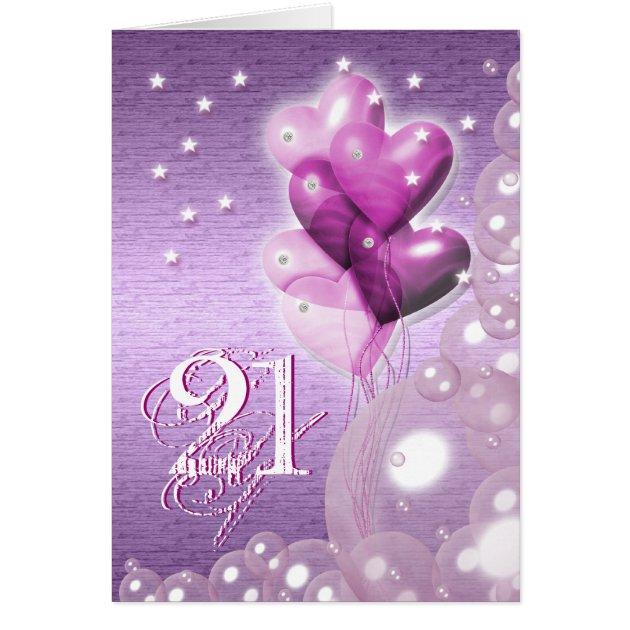 Happy 21st Birthday Balloons Bright Card Zazzle