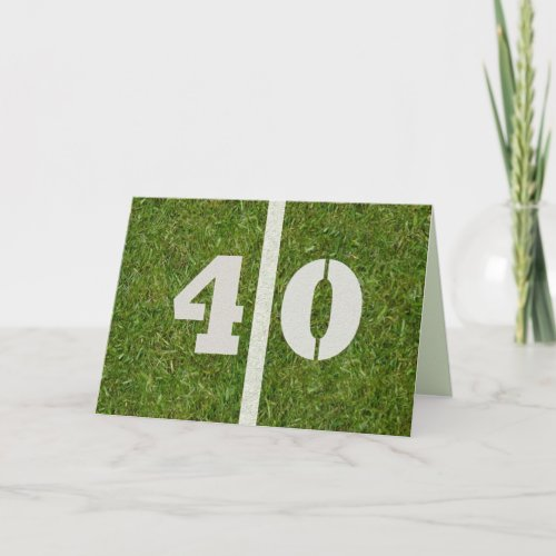 Happy 40th Birthday Football Card Customizable