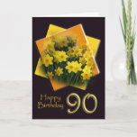 Sweet Happy 90th Birthday Daffodil Card (Available in more years)