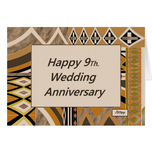 Happy 9Th Wedding Anniversary Pottery Card  Zazzle