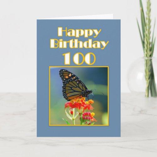 Happy Birthday 100th - Monarch Butterfly card