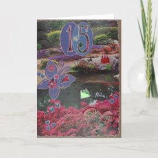 Happy Birthday - 15th - Scrapbook 1 - Seasons Card card