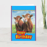 ❤️ Happy Birthday From The Cows Card