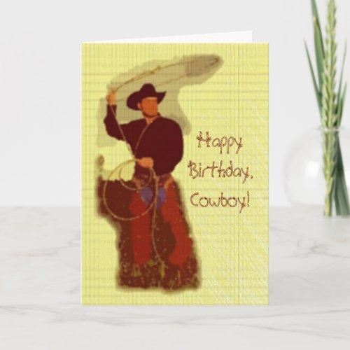 Happy Birthday,Cowboy! card