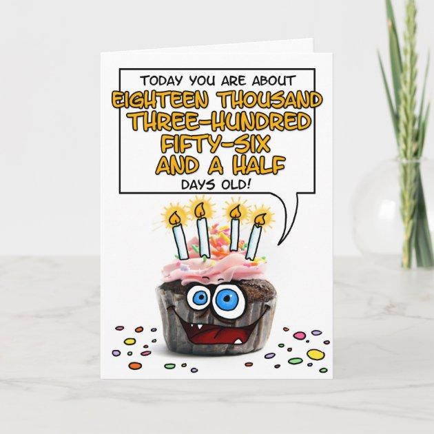 happy birthday cupcake 50