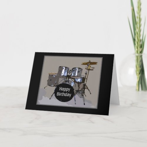 Happy Birthday Drums Card card