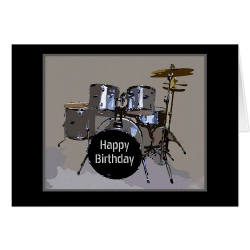 Happy Birthday Drums Card