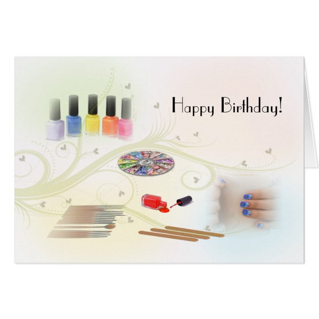 Happy Birthday For A Manicurist Card Zazzle