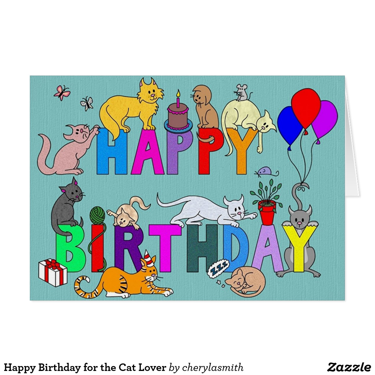 Happy Birthday Cards For Cat Lovers