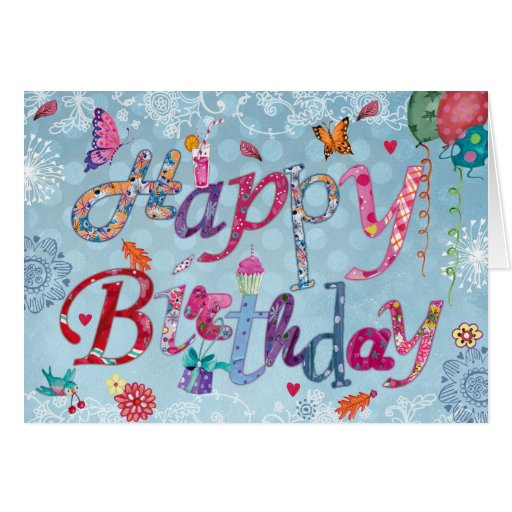 Happy Birthday Funny Letters Greeting Card Zazzle