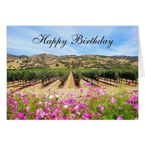 Happy Birthday Napa Valley Vineyard
