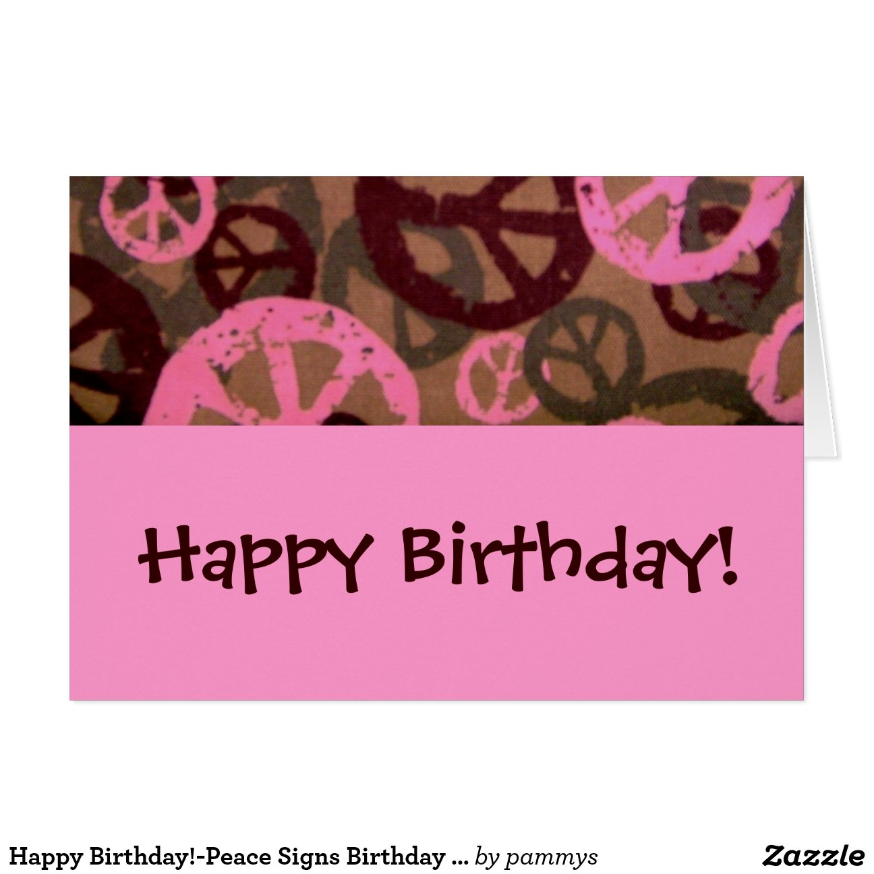 Happybirthdaypeacesignsbirthdaycard