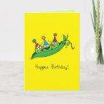 Happy Birthday Peas Quarantine Card