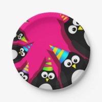 Happy Birthday Penguins Paper Plates | Zazzle