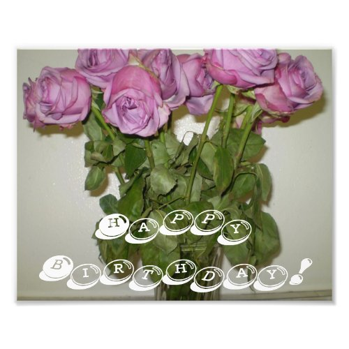 Happy Birthday Roses photoenlargement