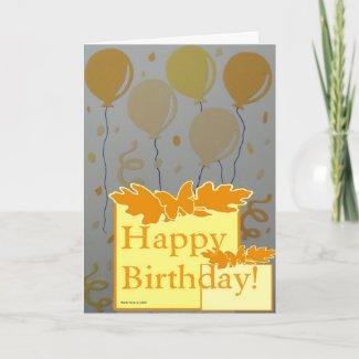 Happy Birthday - Scrapbook 3 - Seasons Card card