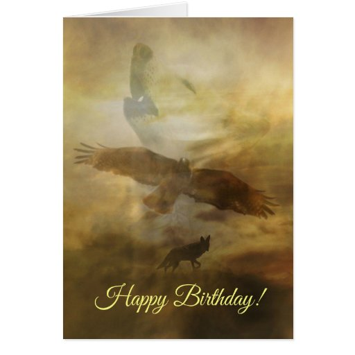 Happy Birthday Spiritual Native American Card Zazzle