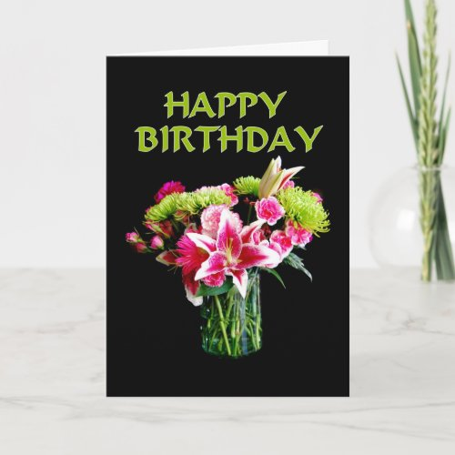 Happy Birthday, Stargazer Lily Bouquet