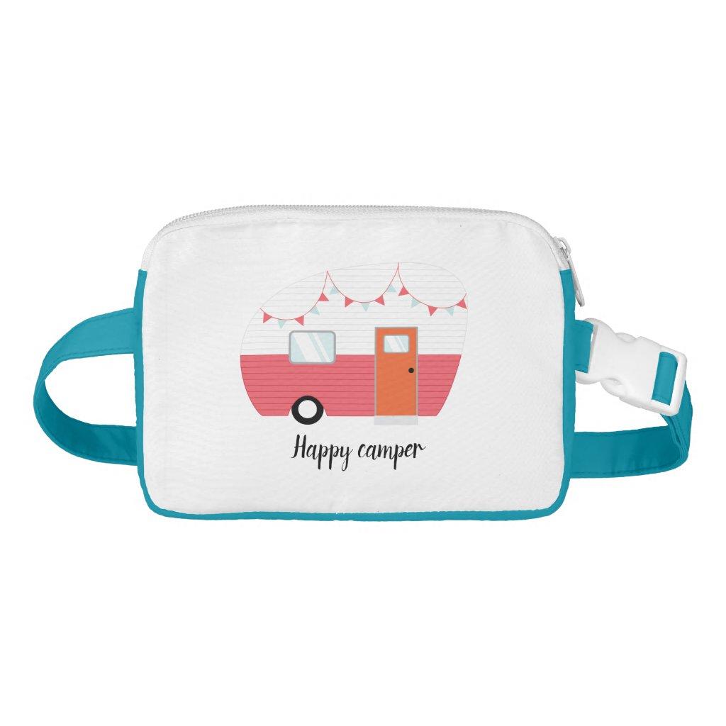 Happy Camper Retro Vintage Fanny Pack