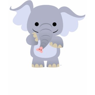 Happy Cartoon Elephant Children T-shirt shirt