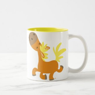Happy Cartoon Pony Mug mug