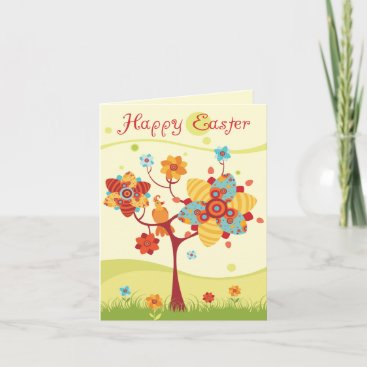 Happy Easter - Abstract Tree Holiday Card