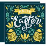 ❤️ Happy Easter Brunch and Egg Hunt Folk Invitation