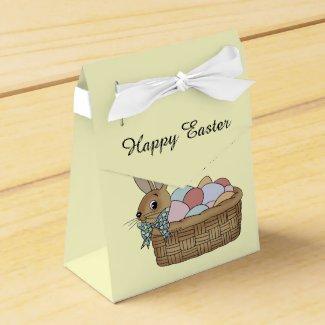 Happy Easter bunny eggs Favor Box