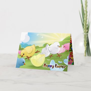 Happy Easter - Staring at the sky Holiday Card
