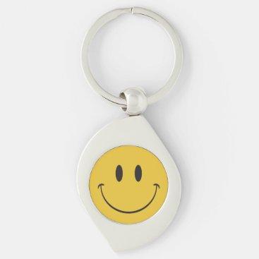 Happy Face Smiley emoji Keychain
