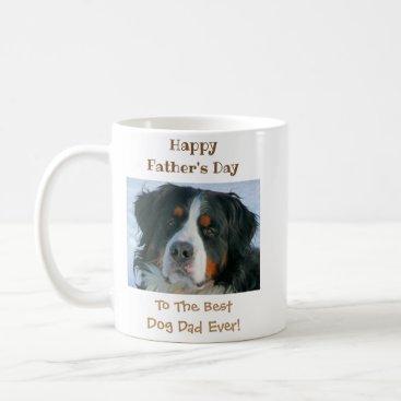 Happy Father's Day Best Dog Dad Photo Coffee Mug