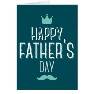 Happy Father's Day Blue Design Card