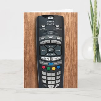 Happy Father's Day Remote Control Greeting Card