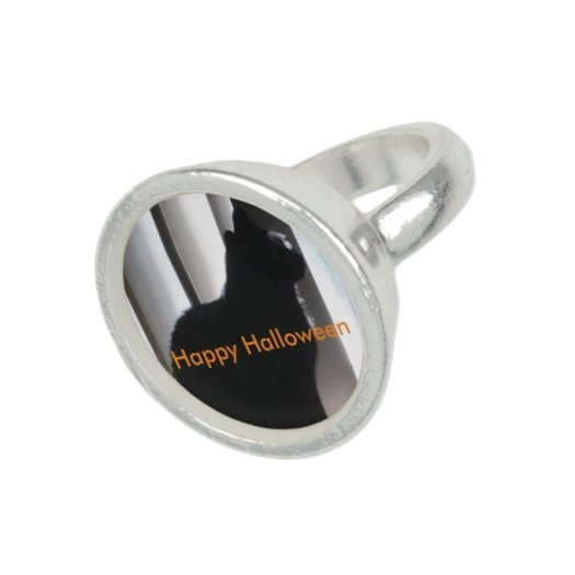 Happy Halloween Black Cat Photo Rings