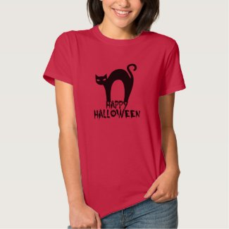 Happy Halloween Black Cat Tee