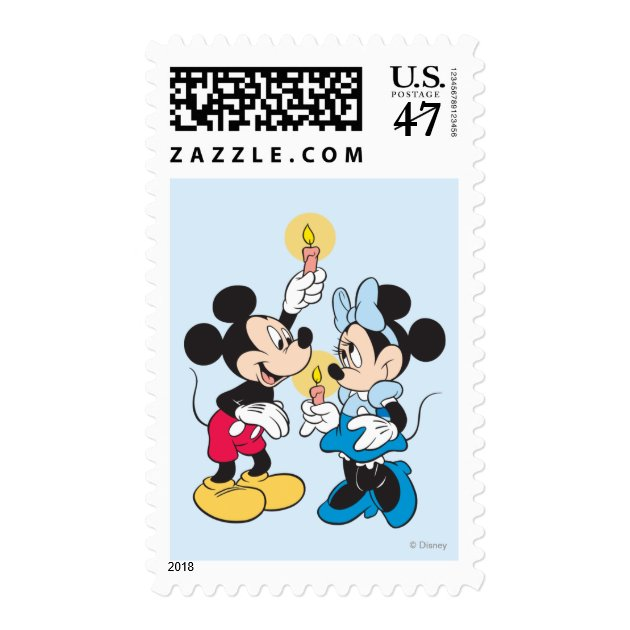 Happy Hanukkah Mickey And Friends Postage Stamp 026080