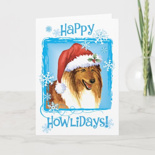 Happy Howliday Collie Holiday Card