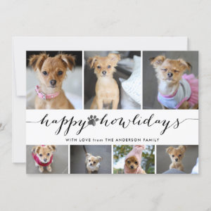 Happy Howlidays 7 Photo Pet Holiday Collage