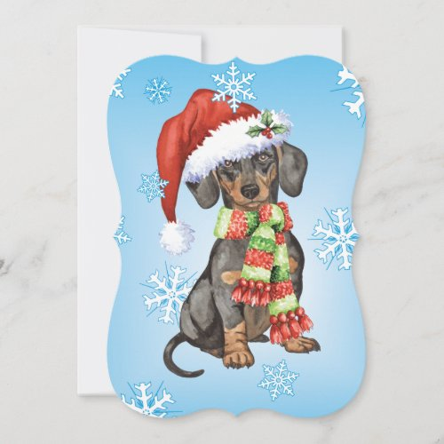 Happy Howlidays Dachshund Holiday Card