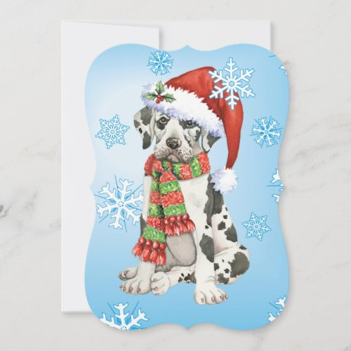 Happy Howlidays Great Dane Holiday Card