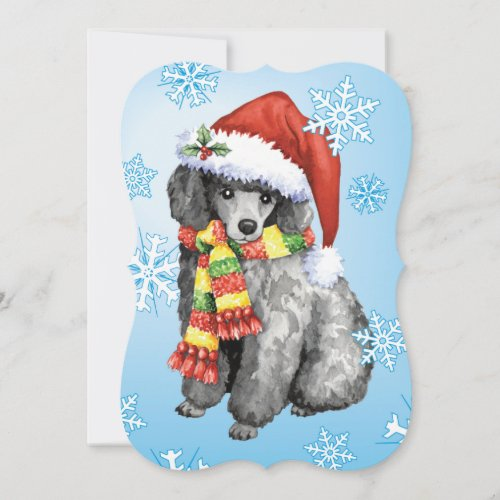 Happy Howlidays Miniature Poodle Holiday Card