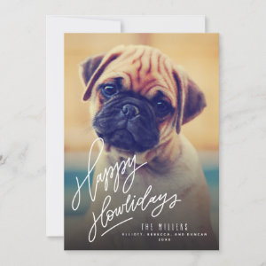 Happy Howlidays Pet Holiday Photo