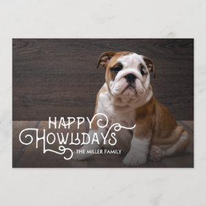 Happy Howlidays | Pet Holiday Photo Card