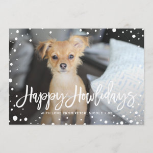 Happy Howlidays Snow | Pet Holiday Photo Card