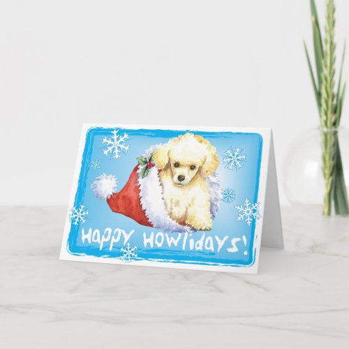 Happy Howlidays Toy Poodle Holiday Card