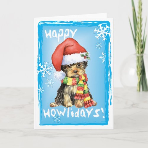 Happy Howlidays Yorkie Holiday Card