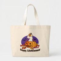 Happy Llamaween Large Tote Bag